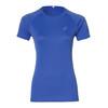 asics Stripe SS Top Women blue purple